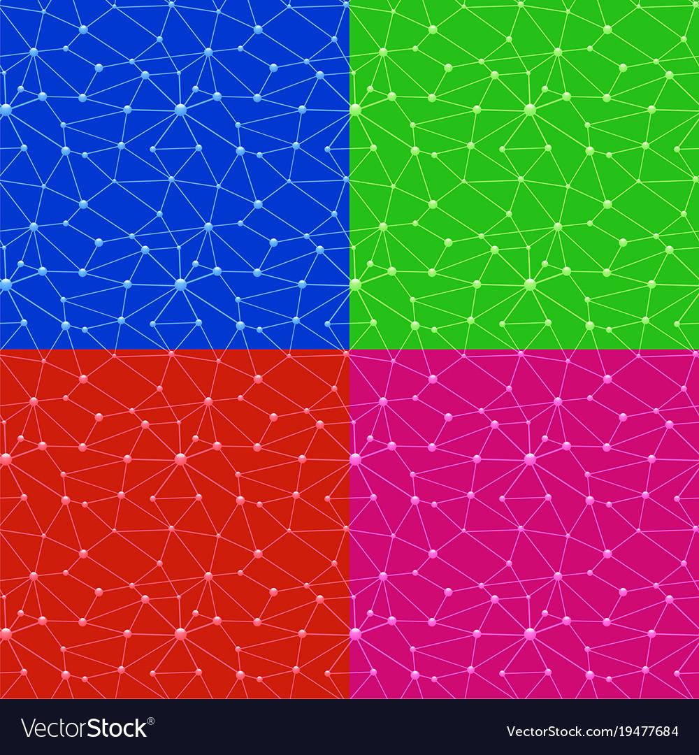 Neurons web seamless patterns