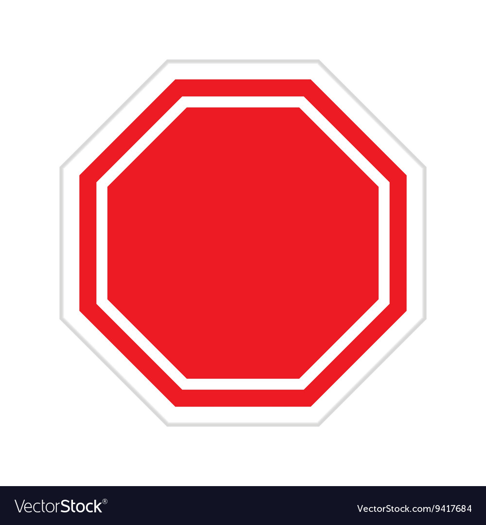 Red blank stop sign