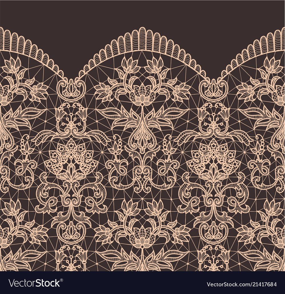 Seamless beige lace