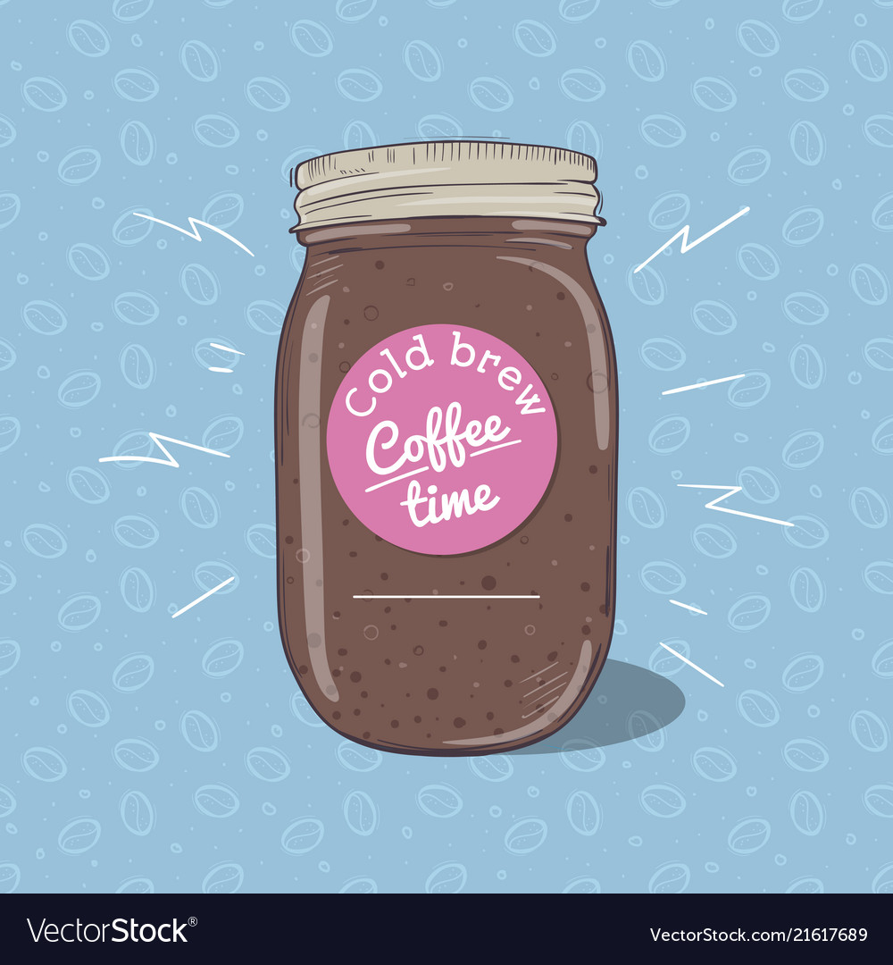 Cold coffee or chocolate milkshake in mason jar