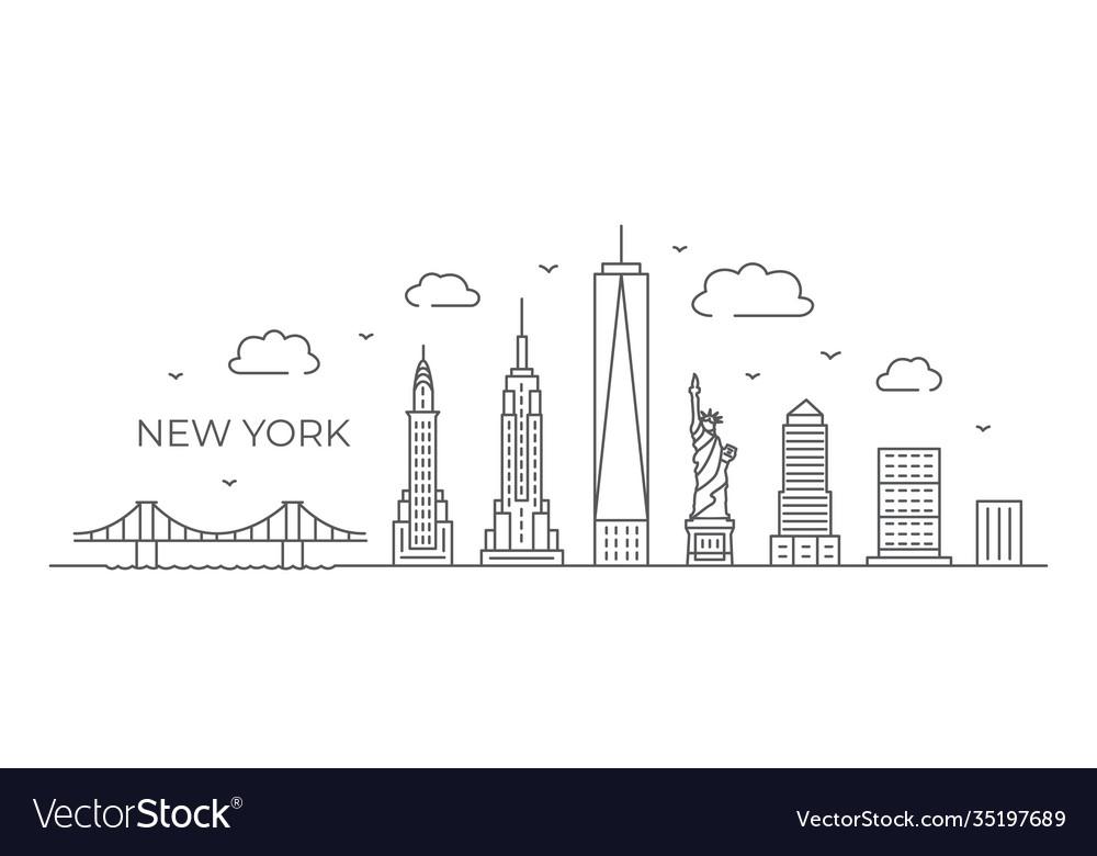 New york line drawing york