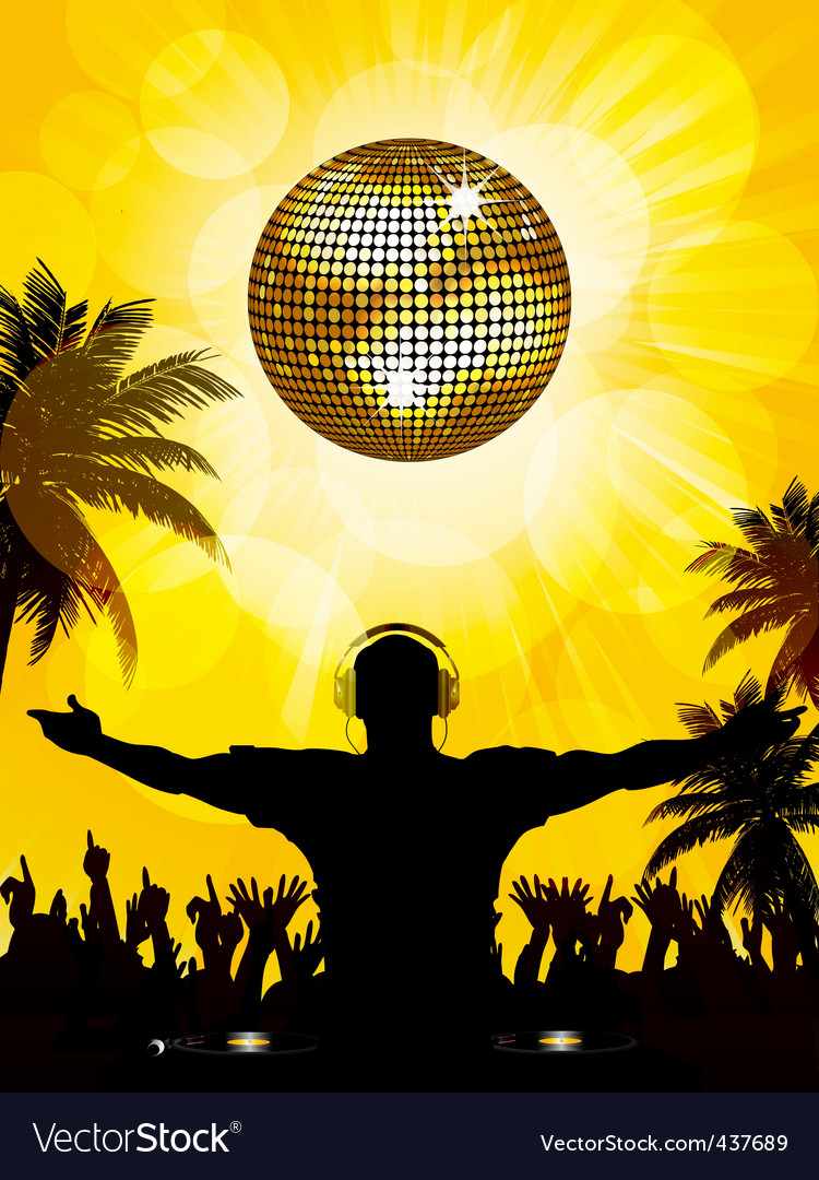 Tropical dj and party vector image