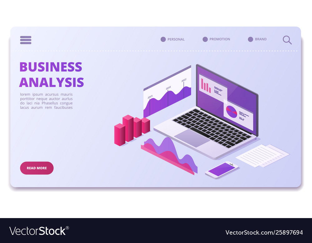 Financial analytics page template business