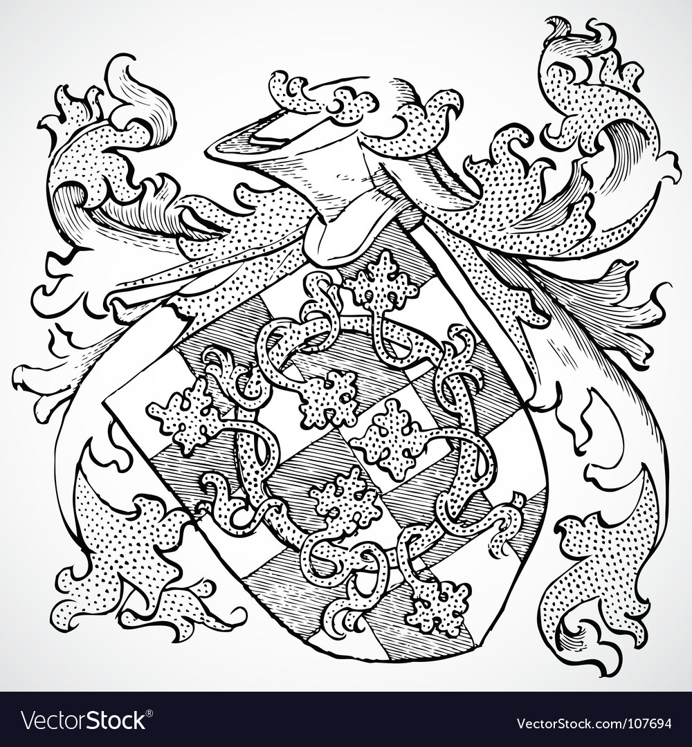 Gothic knight ornament vector image