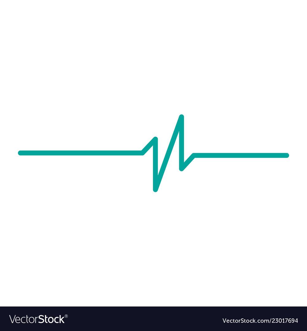 Heart rhythm ekg isolated on white background