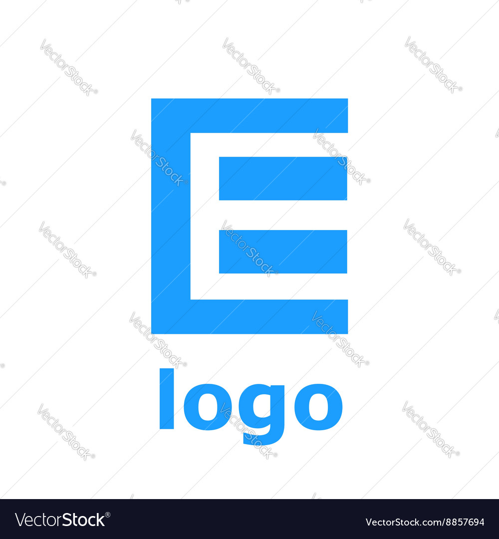 Logo E letter Isolated on white background vector image
