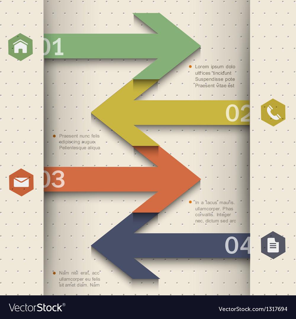 Modern banner arrow design for website templates