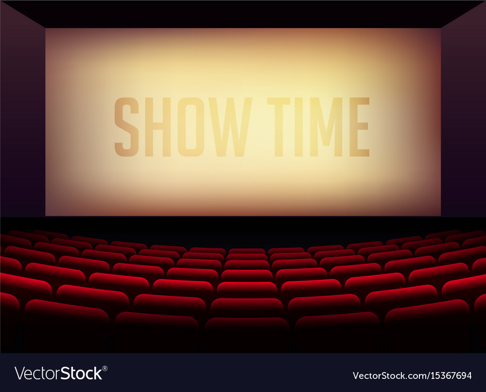 Movie cinema or theater hall for film premier