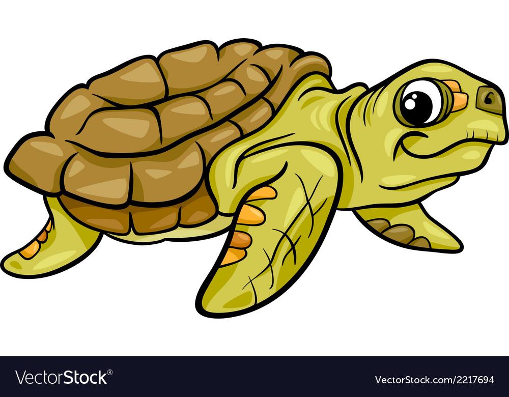 Sea turtle animal cartoon