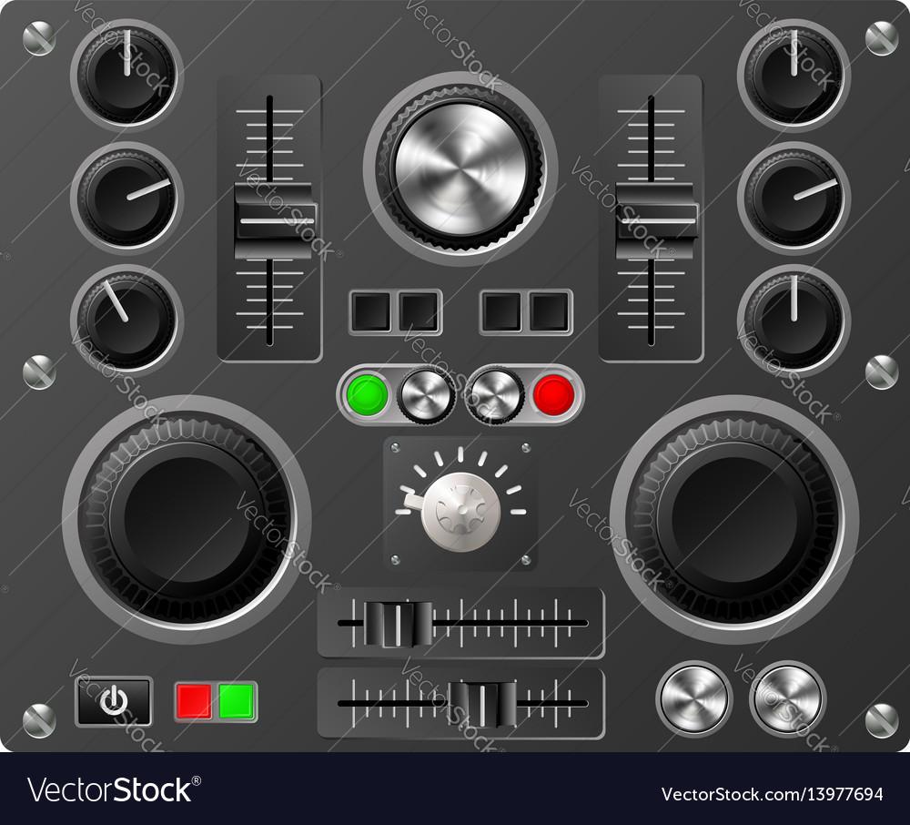 Sound board or studio controls vector image