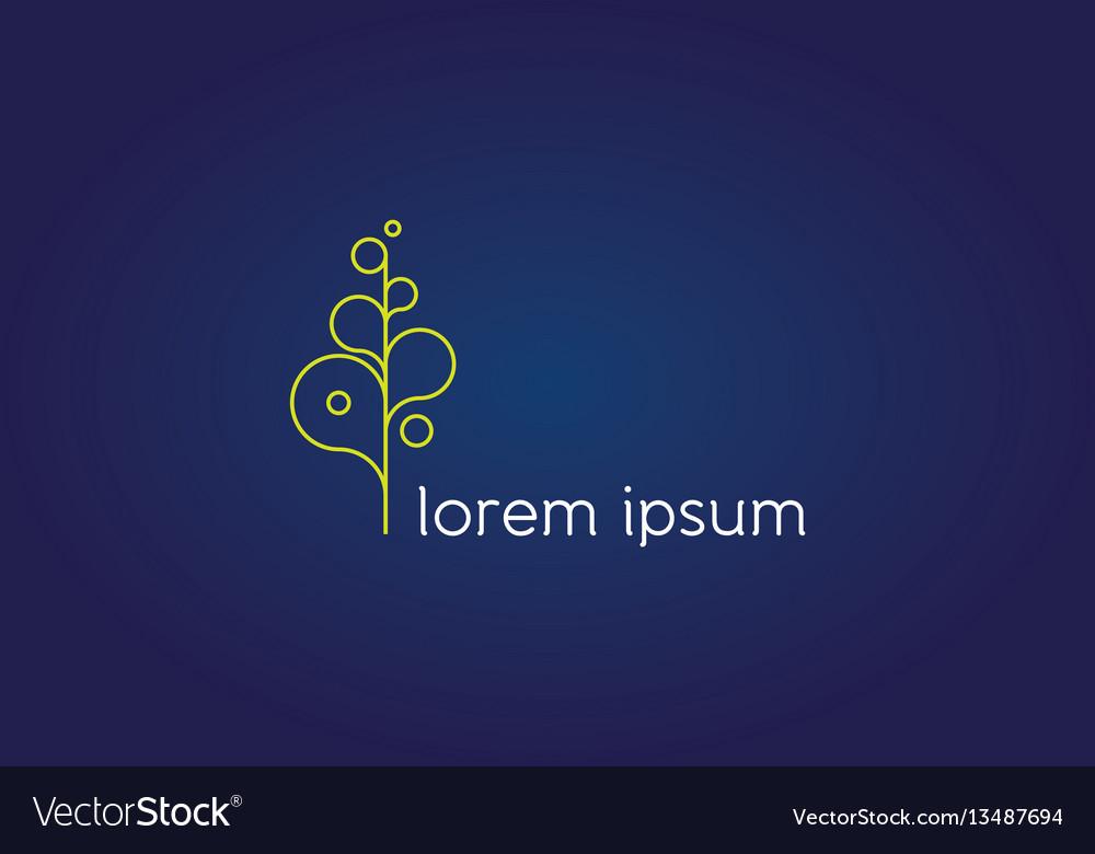 Thin letter abstract flourish icon