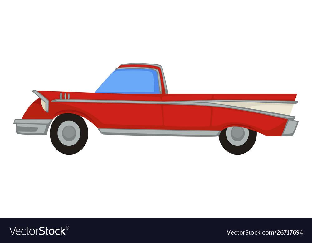 Vintage automobile 50s retro muscle car 1950s