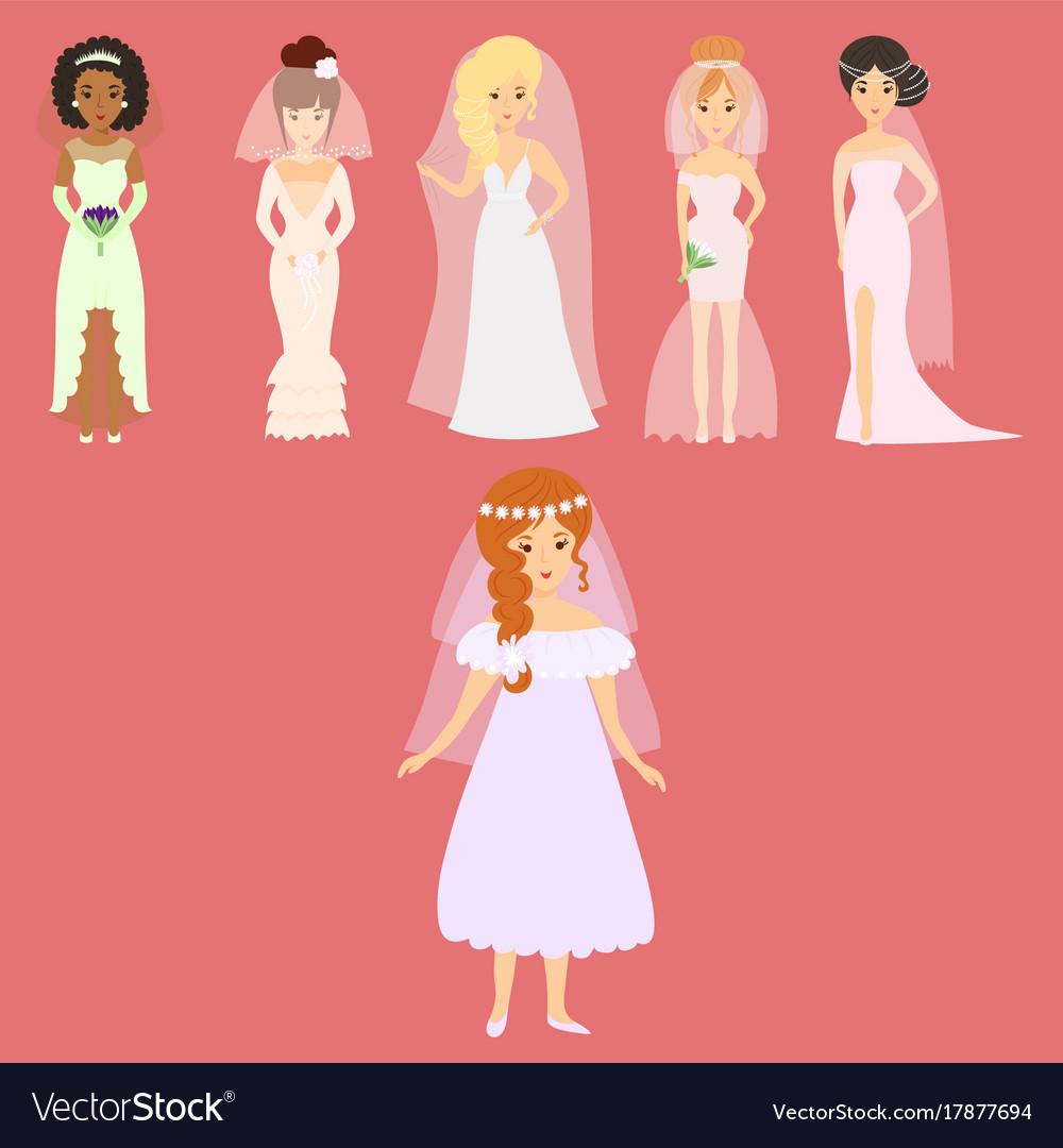 Wedding brides characters