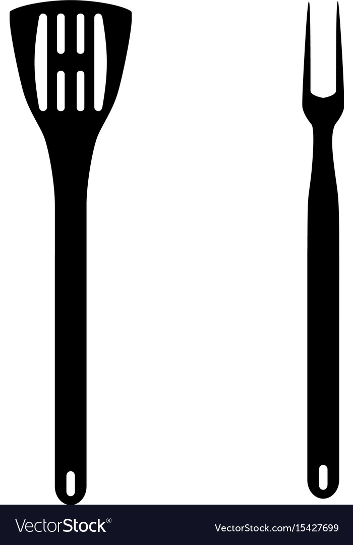 Bbq or grill tools icon vector image