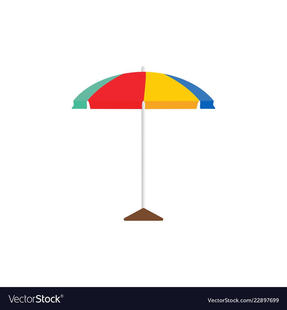Beach umbrella graphic design template