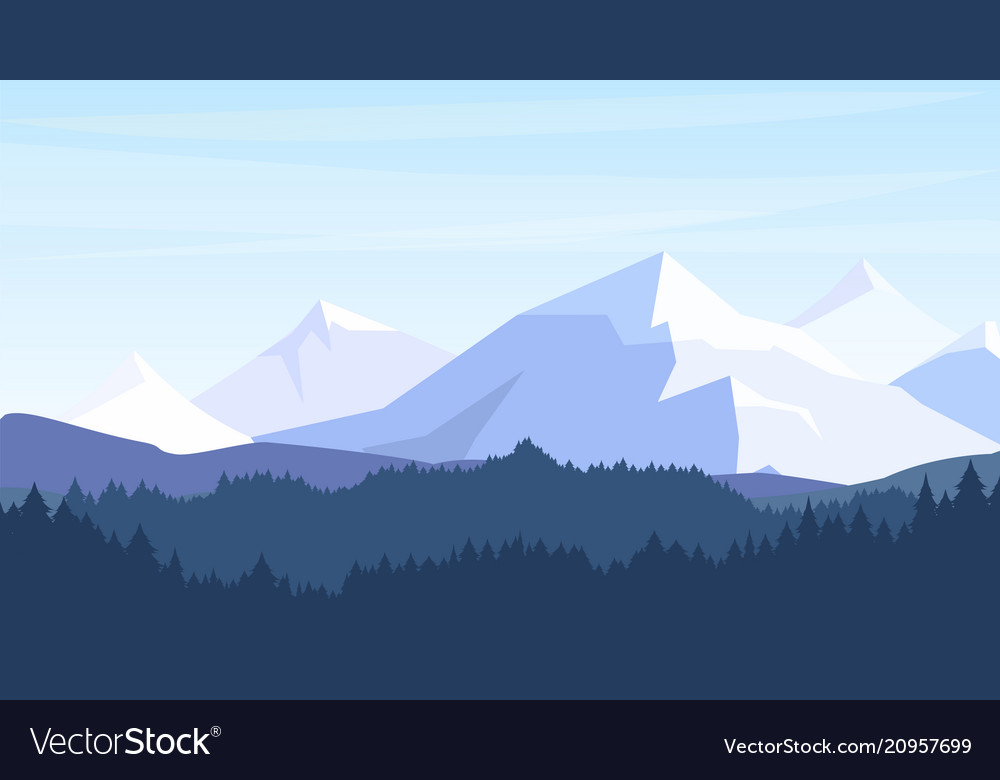 Beautiful mountains with