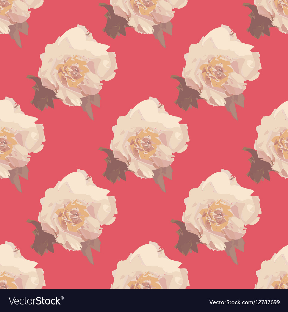 Bouquet Of White Peony Flowers Seamless Pattern Vector Image On Vectorstock