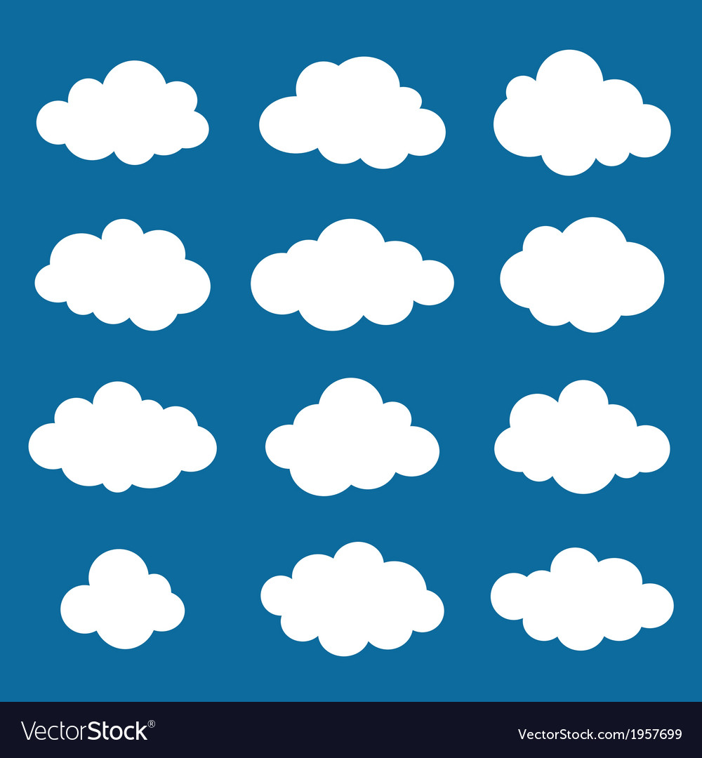 Clouds collection Cloud shapes pack