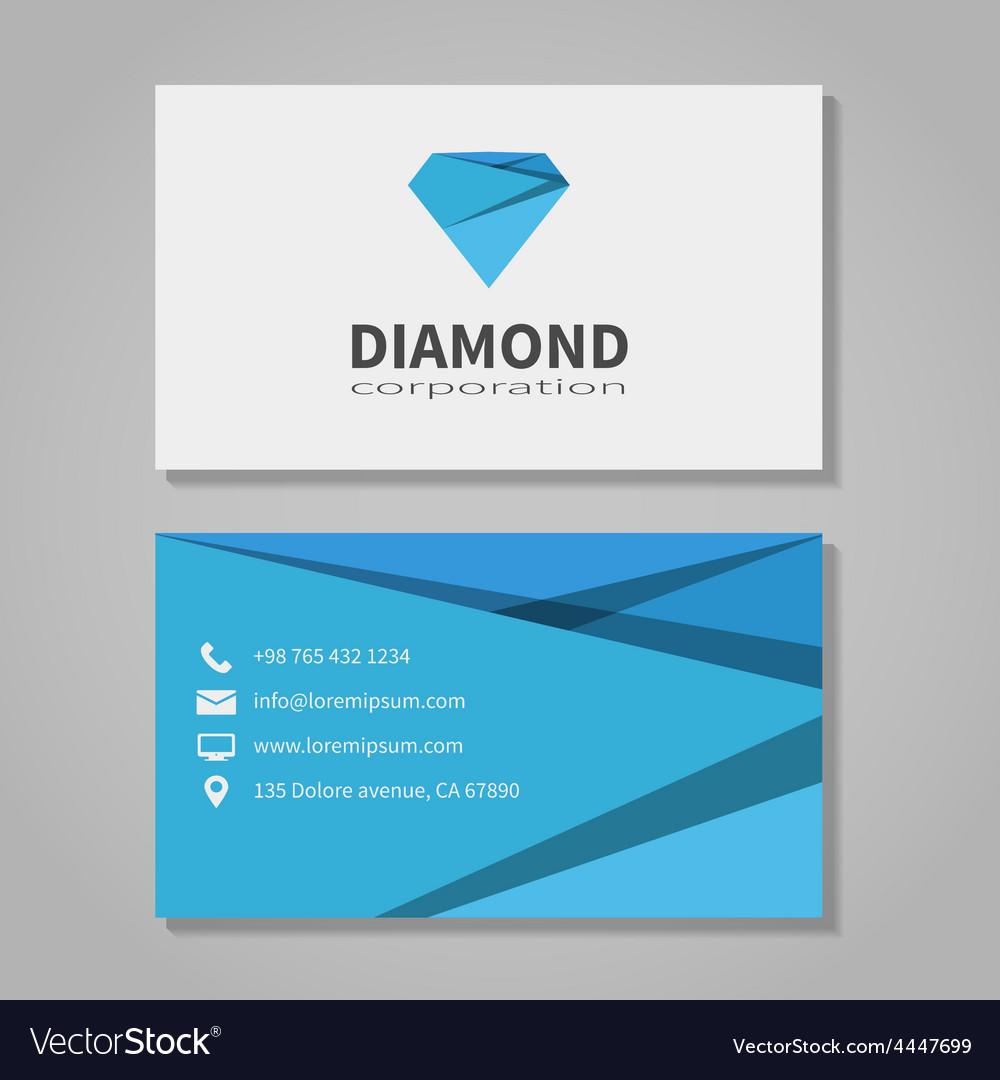 Diamond corporation business card template