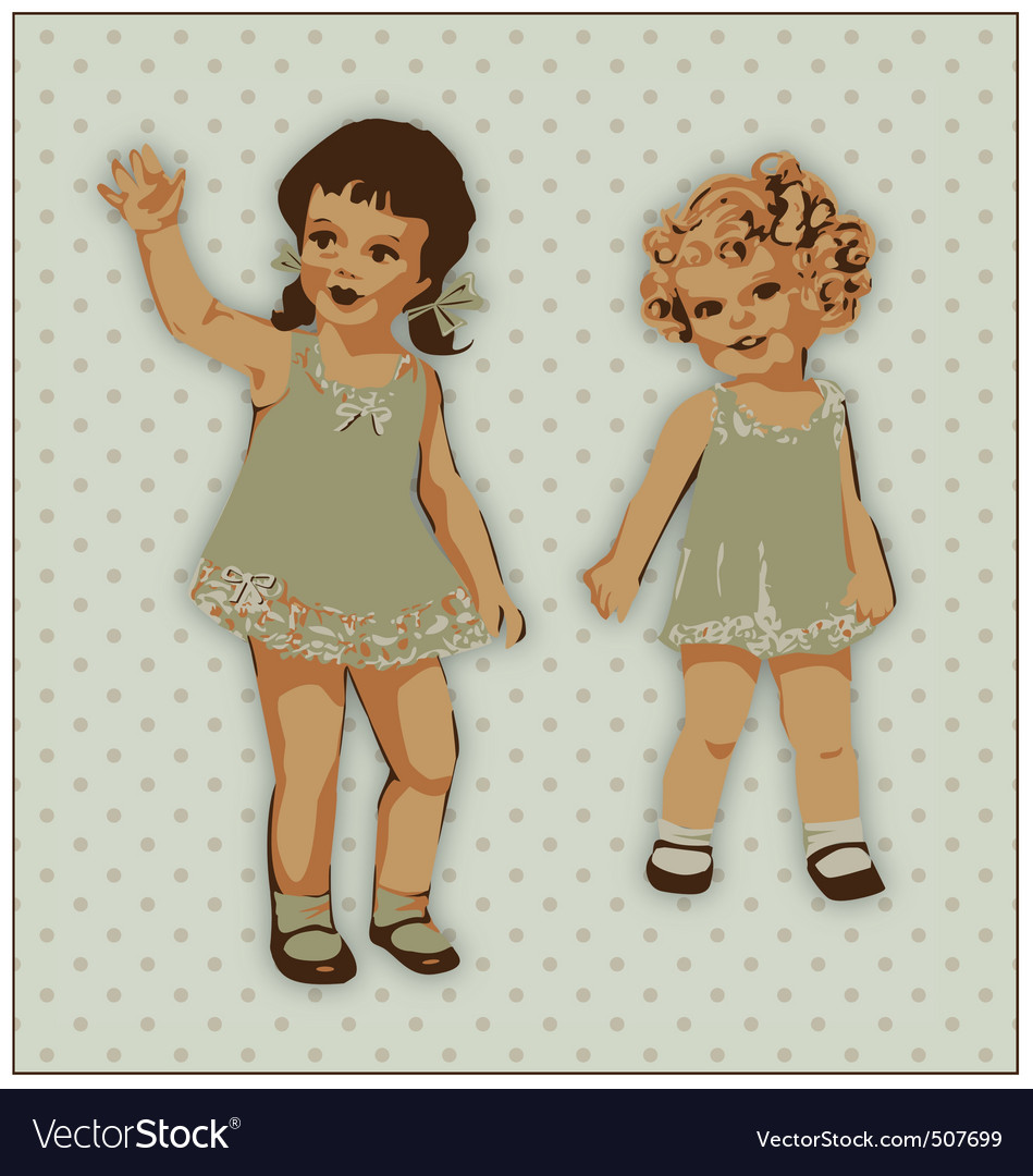 Dolls vector image