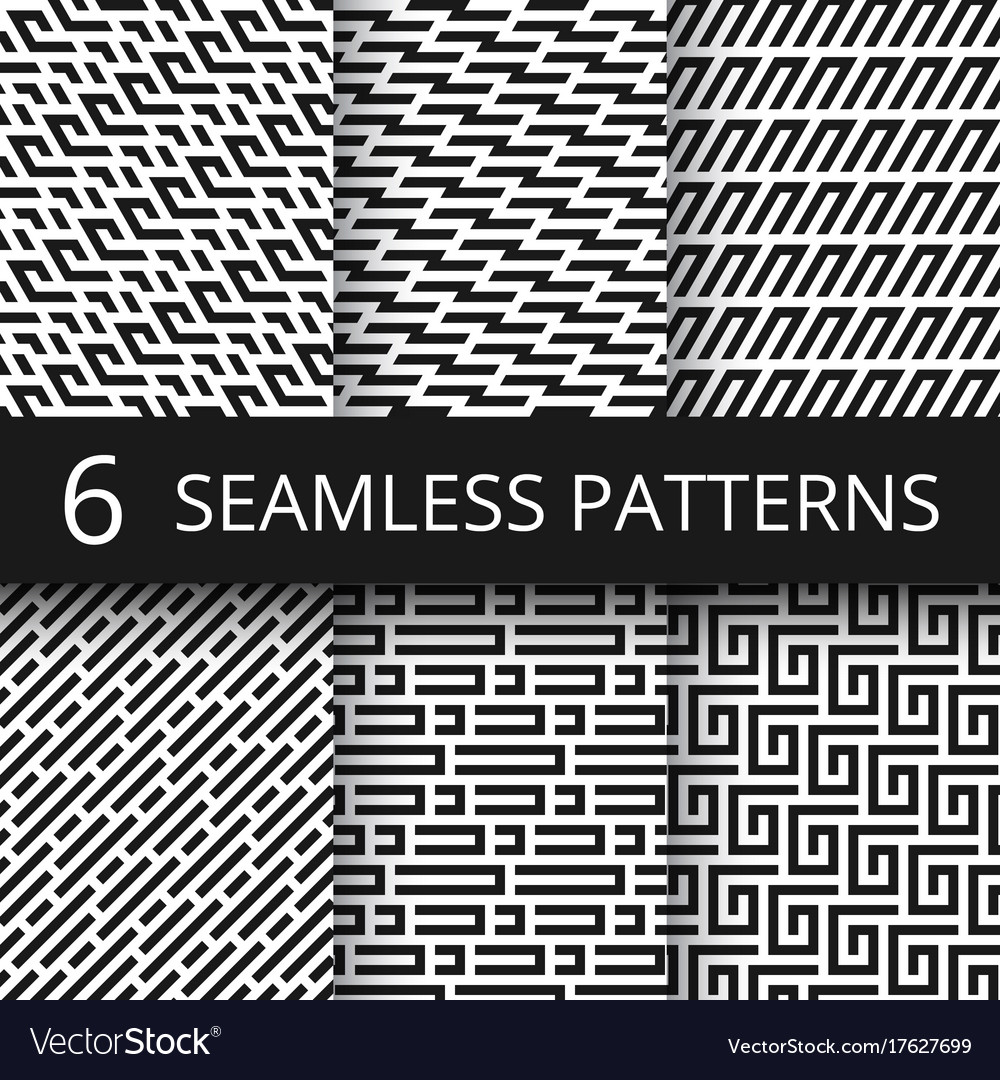 Funky line geometric seamless patterns