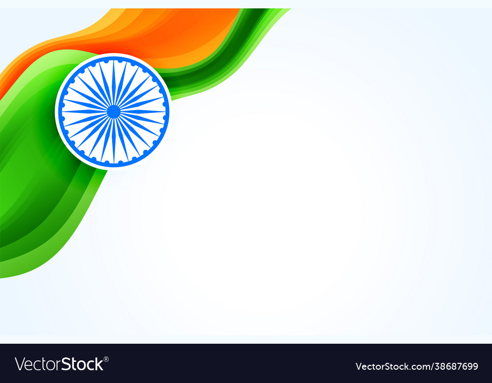 Indian flag creative banner with text space