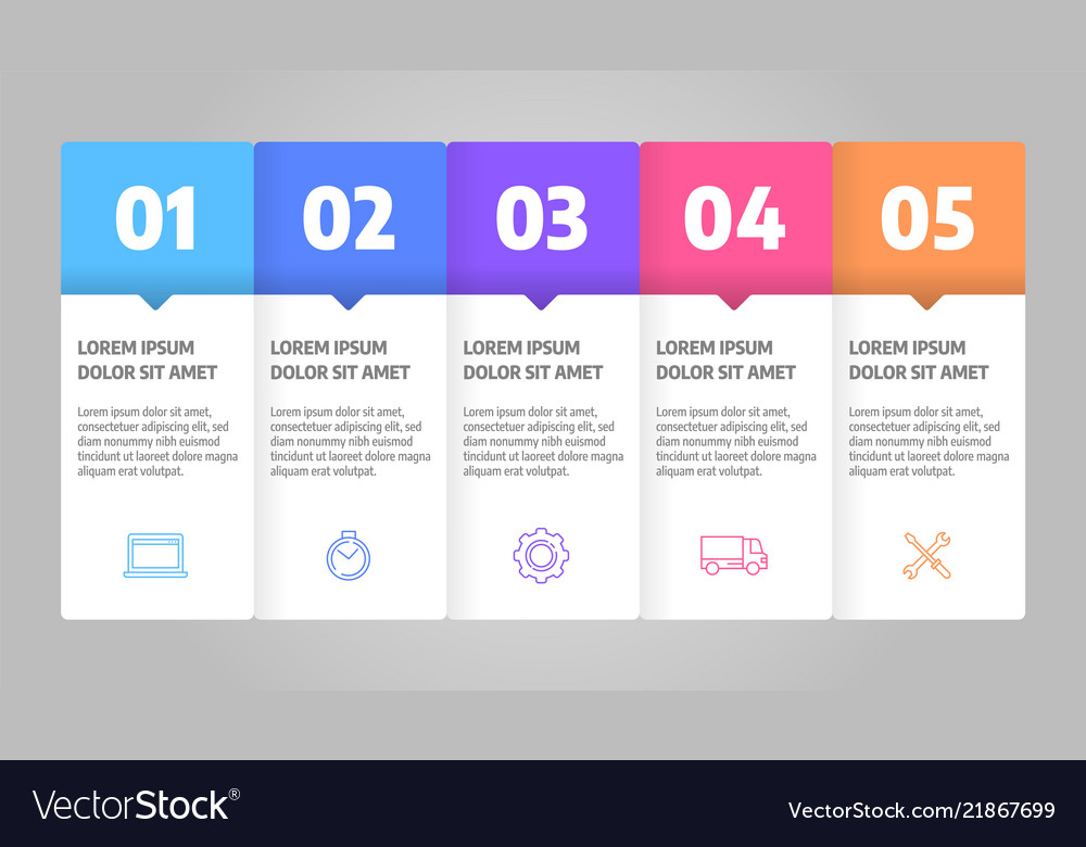 Infographics design business concept with