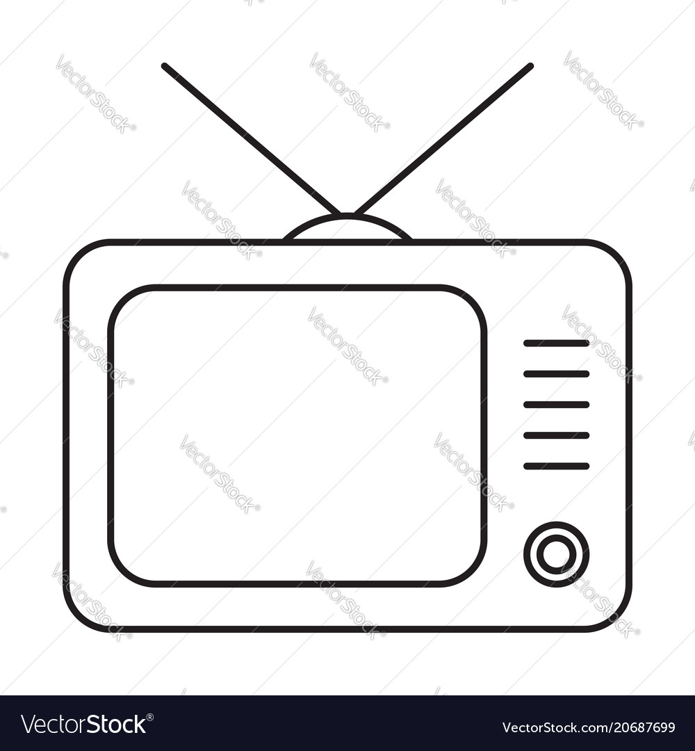 Line icon television