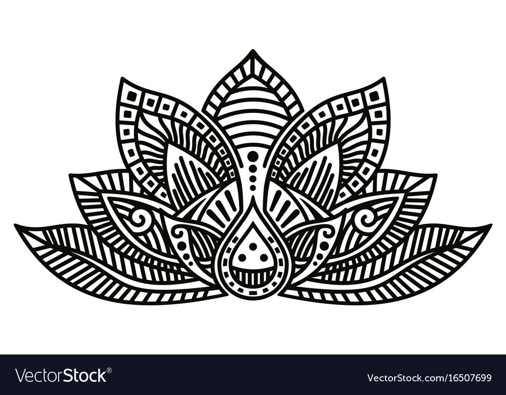 Lotus flower tattoo royalty free vector image vectorstock lotus flower tattoo vector image mightylinksfo