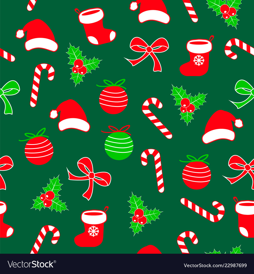 Seamless christmas pattern with lolipop candy