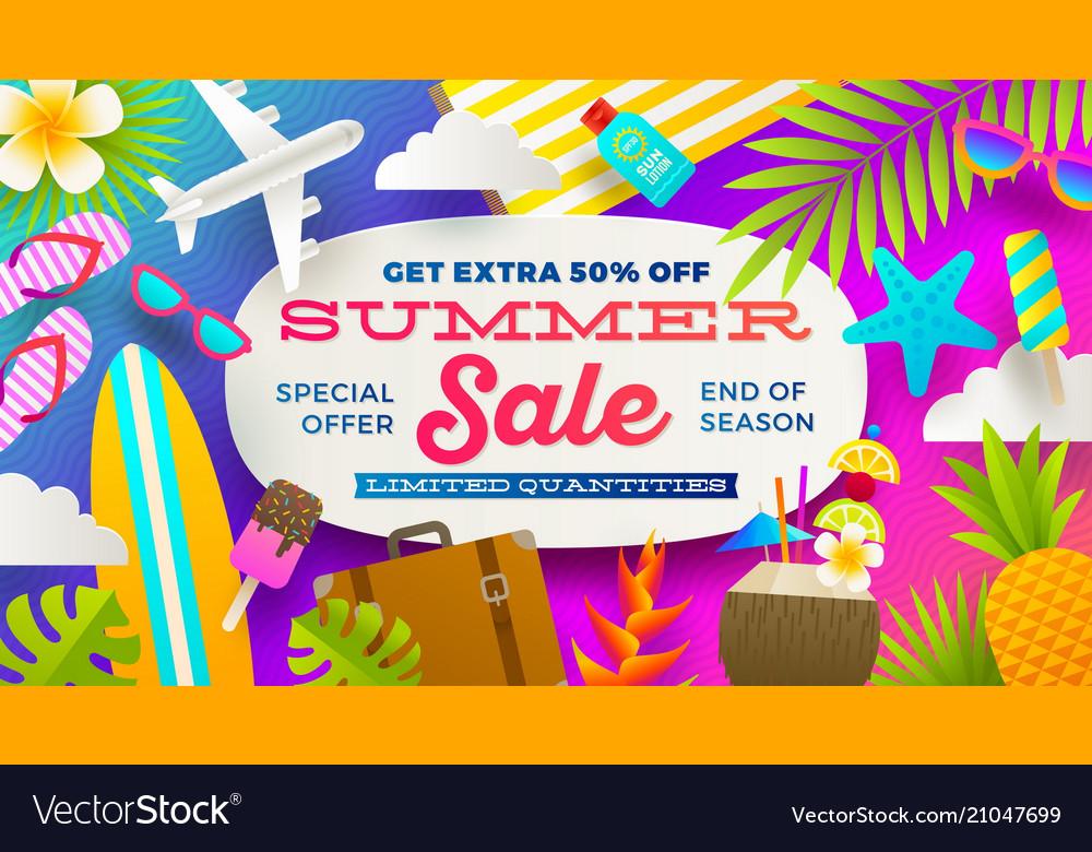 Summer sale promotion banner