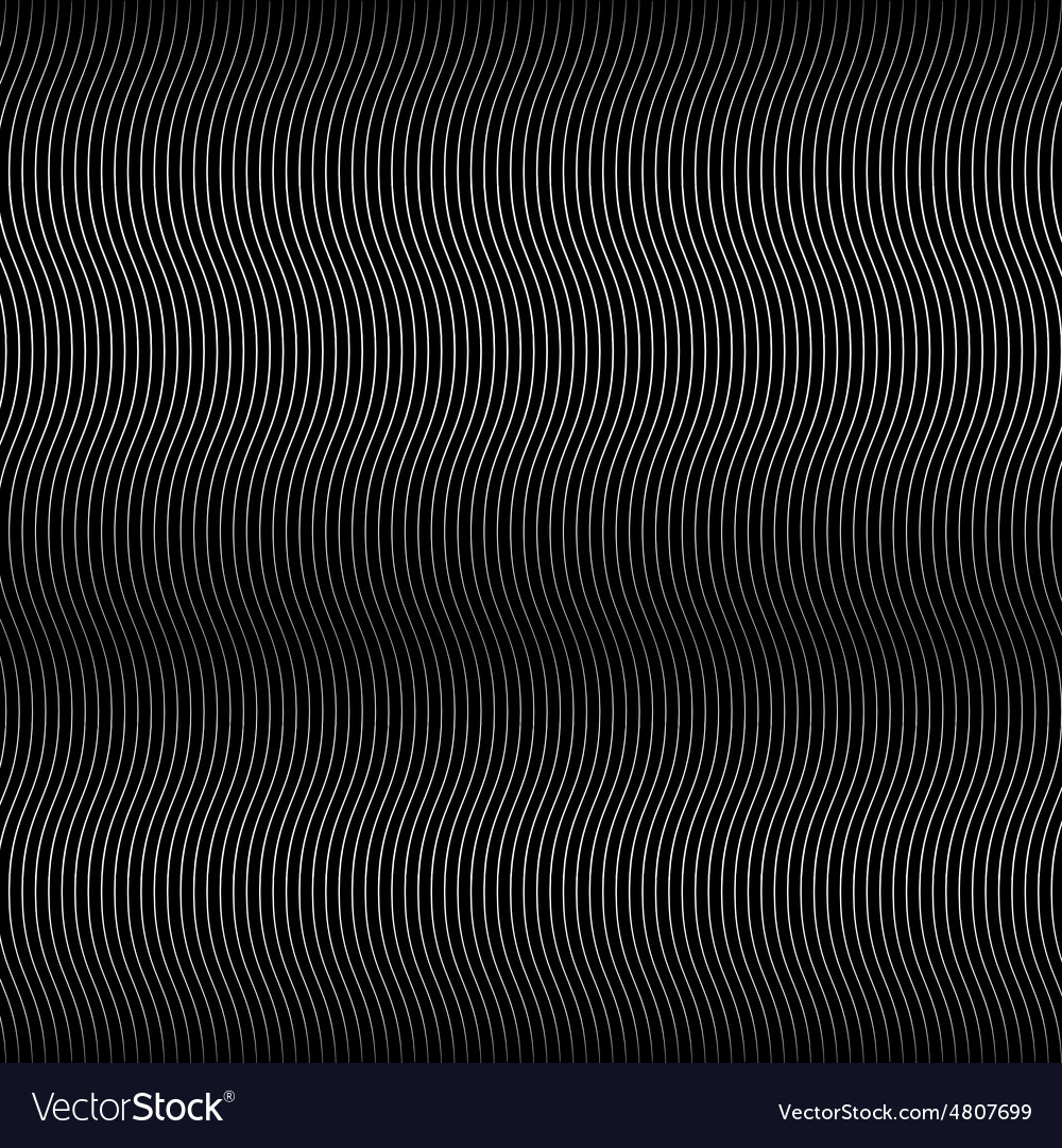 Wave Black Line Background