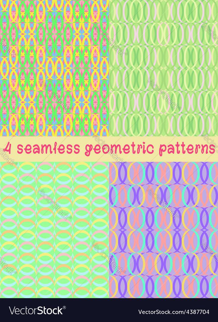 4 seamless geometric patterns