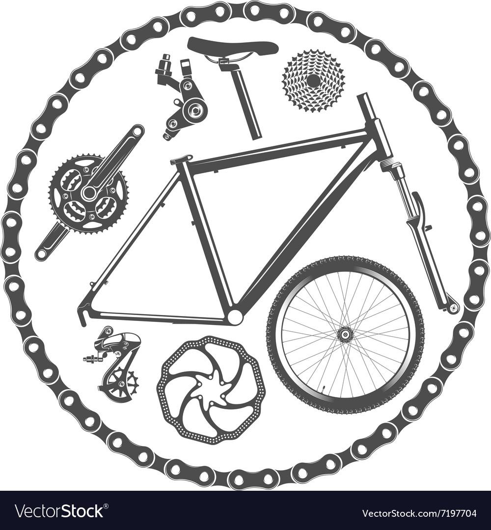 Bike Bicycle Crankset Vector Images 29