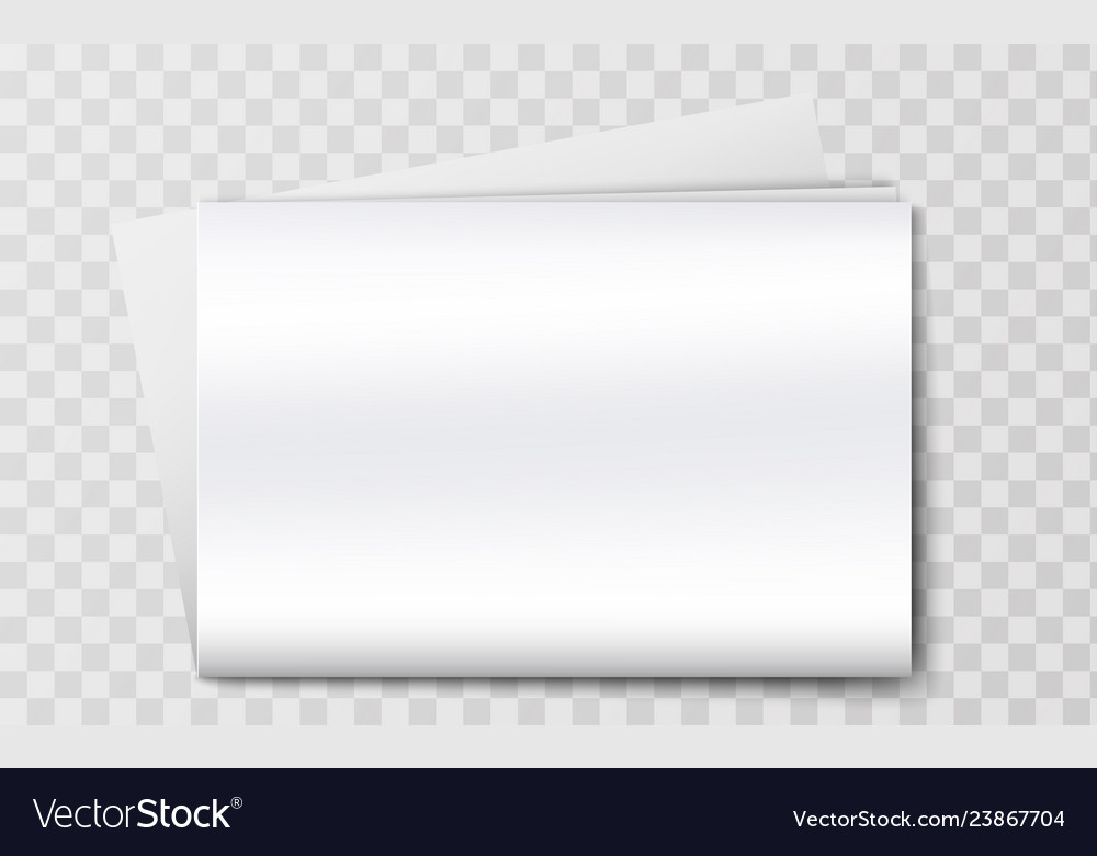 Blank newspaper mockup isolated on background