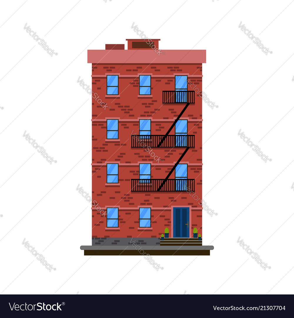 Flat design european colorful apartment