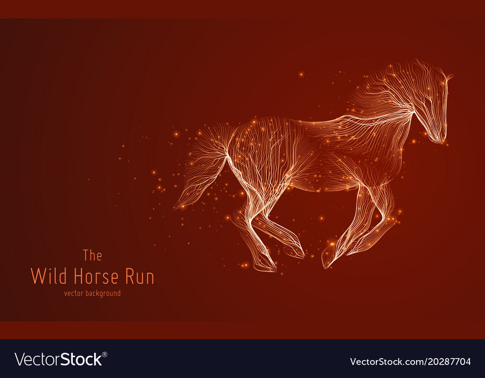 Galloping horse constructed