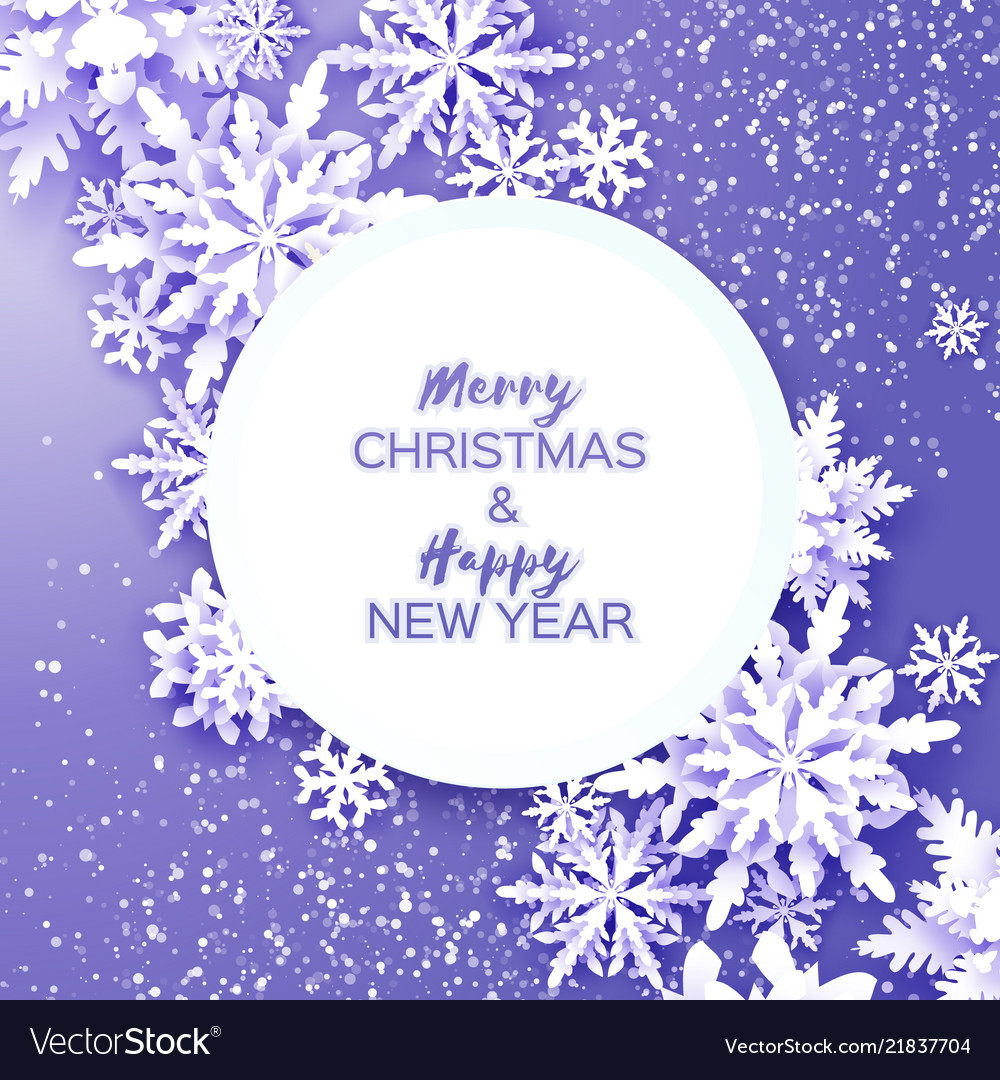 Merry christmas and happy new year greetings card vector image m4hsunfo