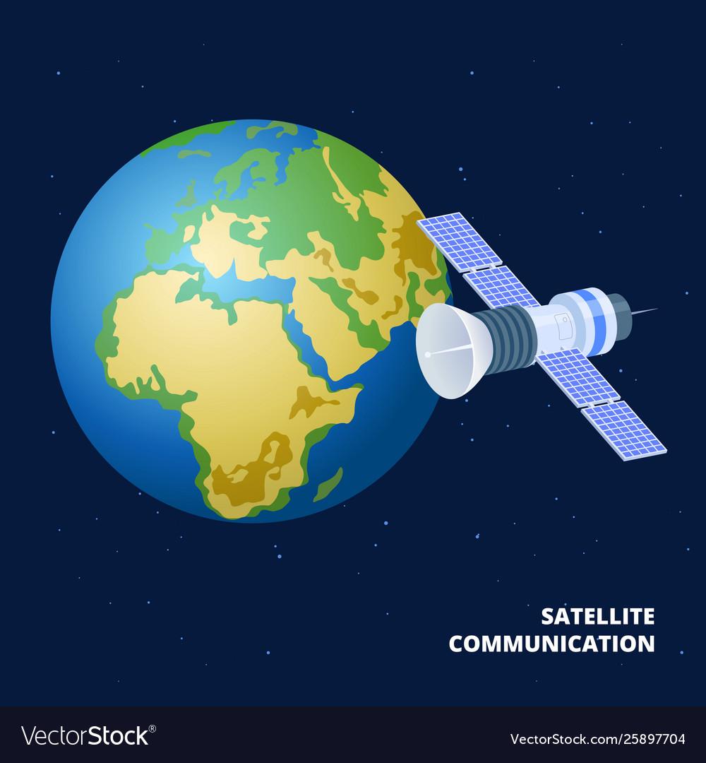 Satellite communication isometric