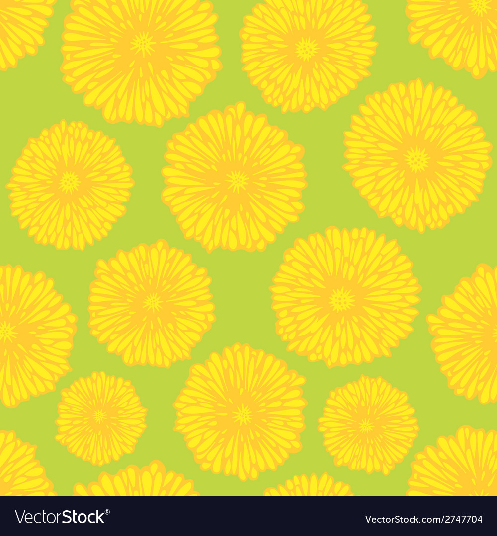 Seamless dandelion pattern