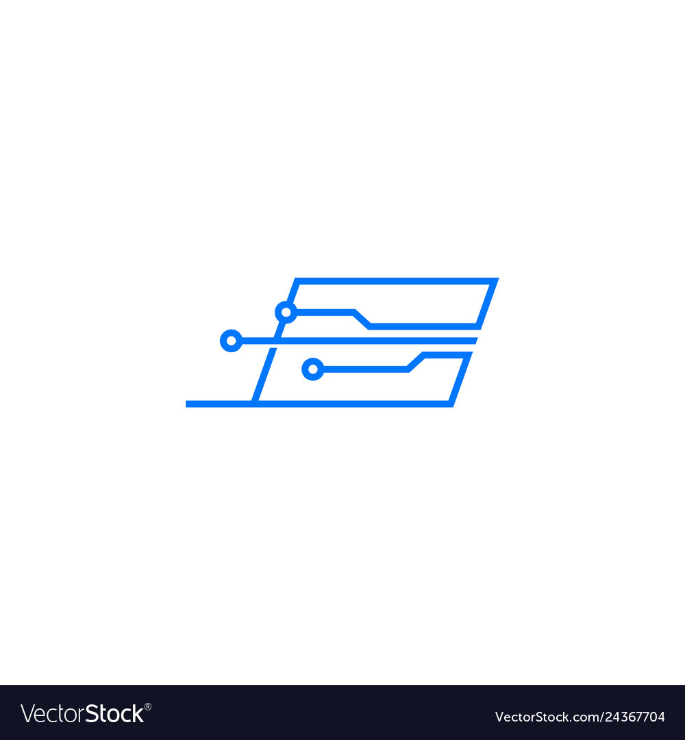 Smart laptop tech logo icon