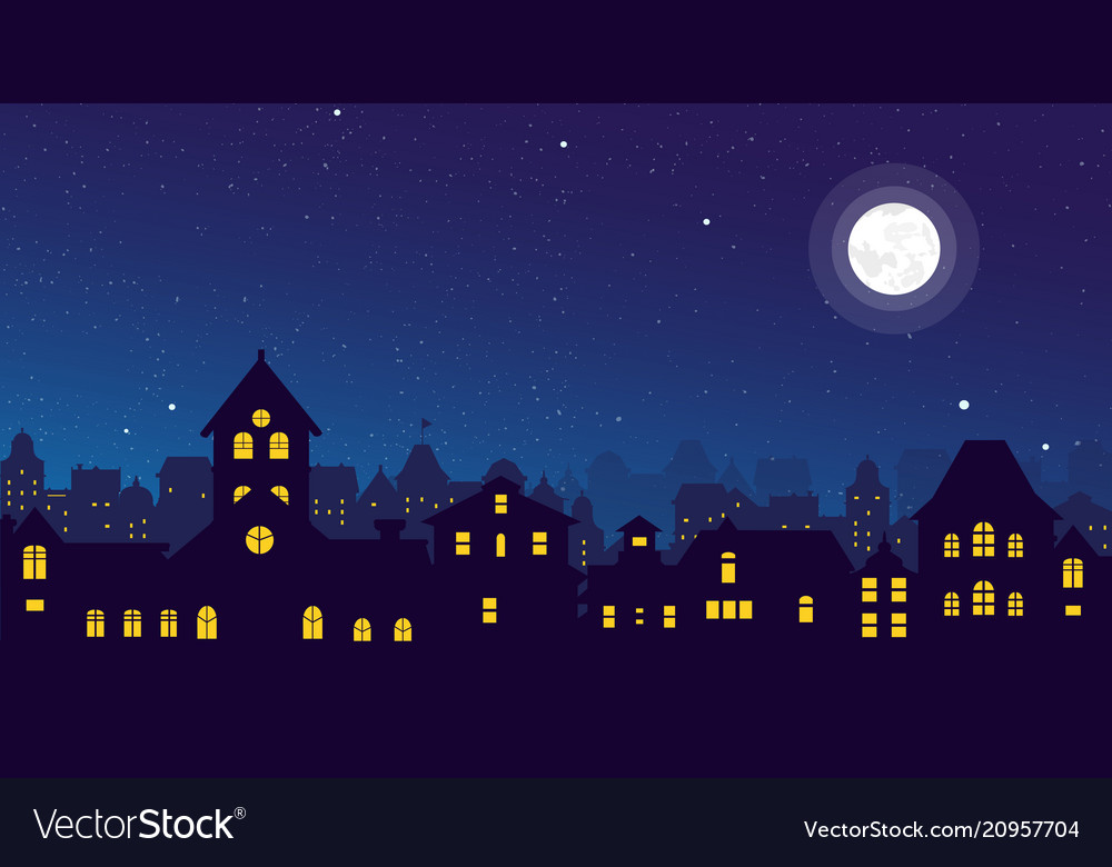 The night town skyline with