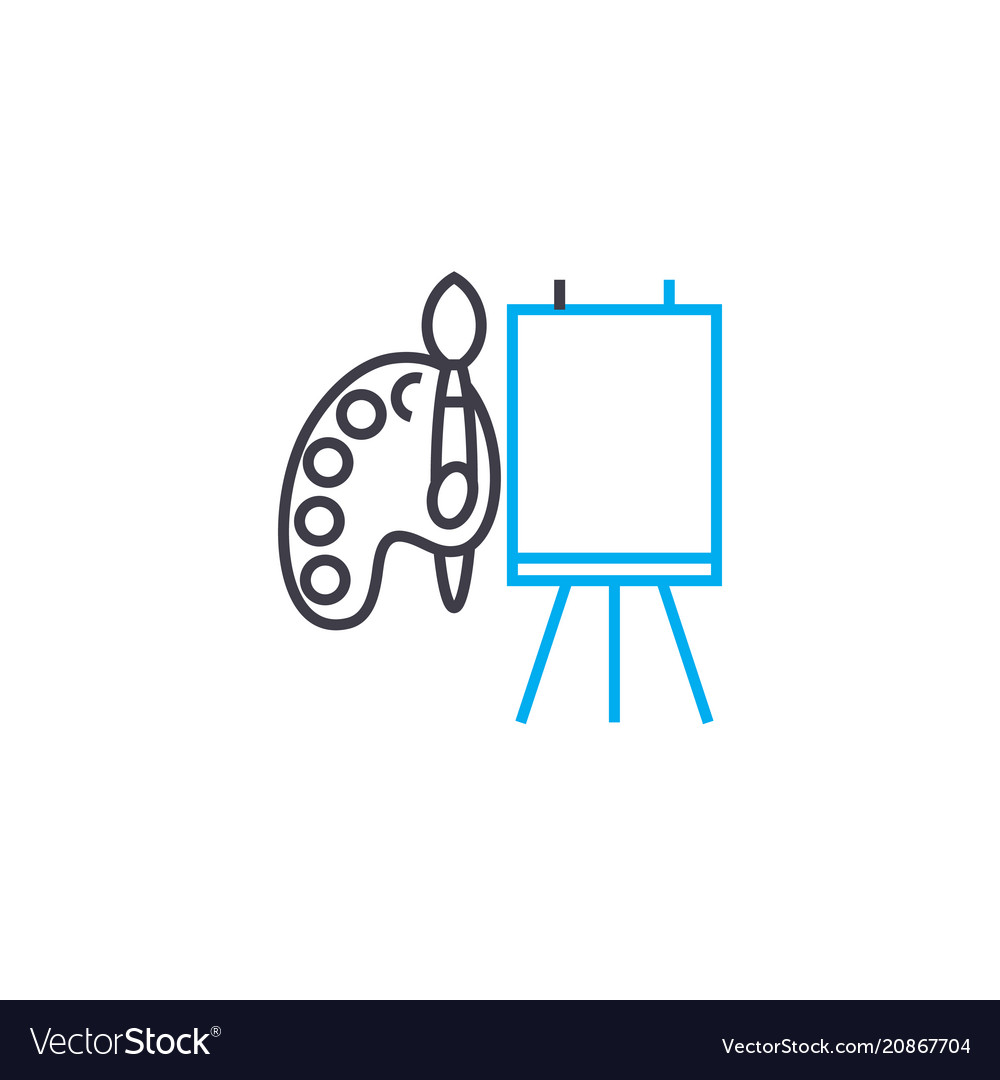 Tools for drawing thin line stroke icon