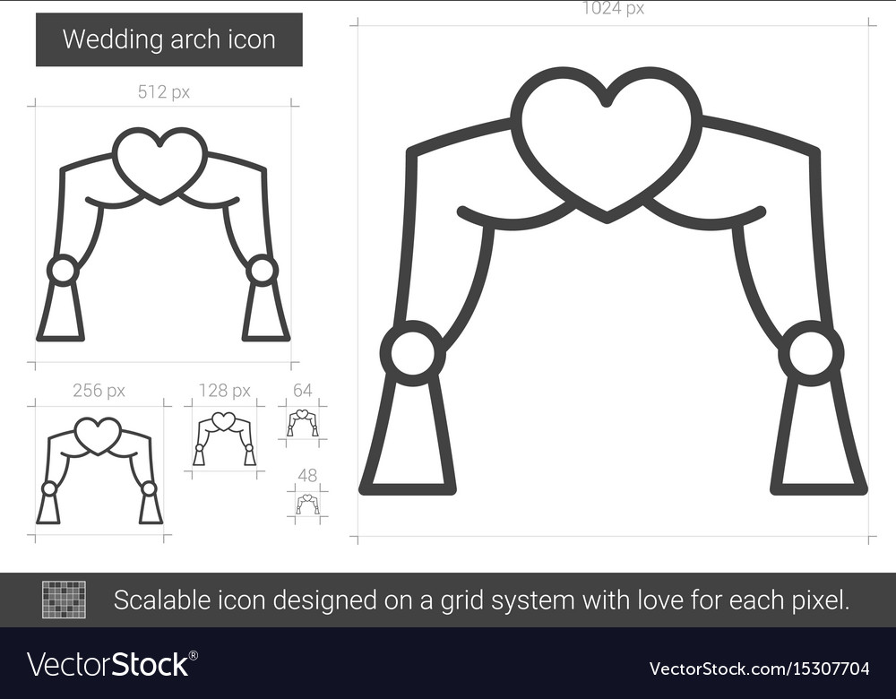 Wedding arch line icon