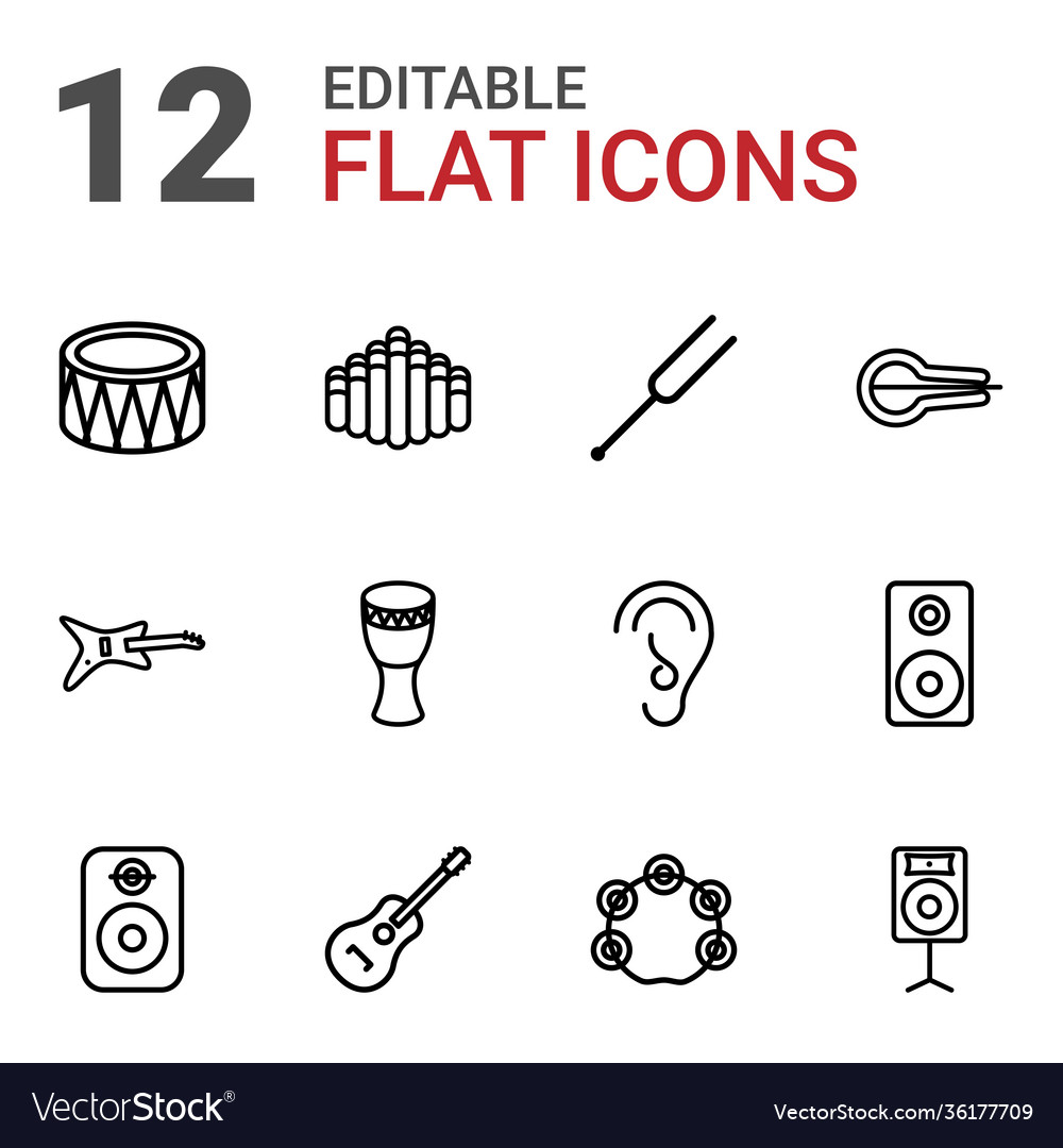 12 acoustic icons