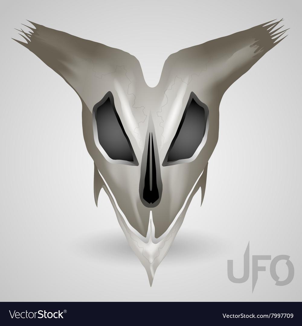 Alien head skull