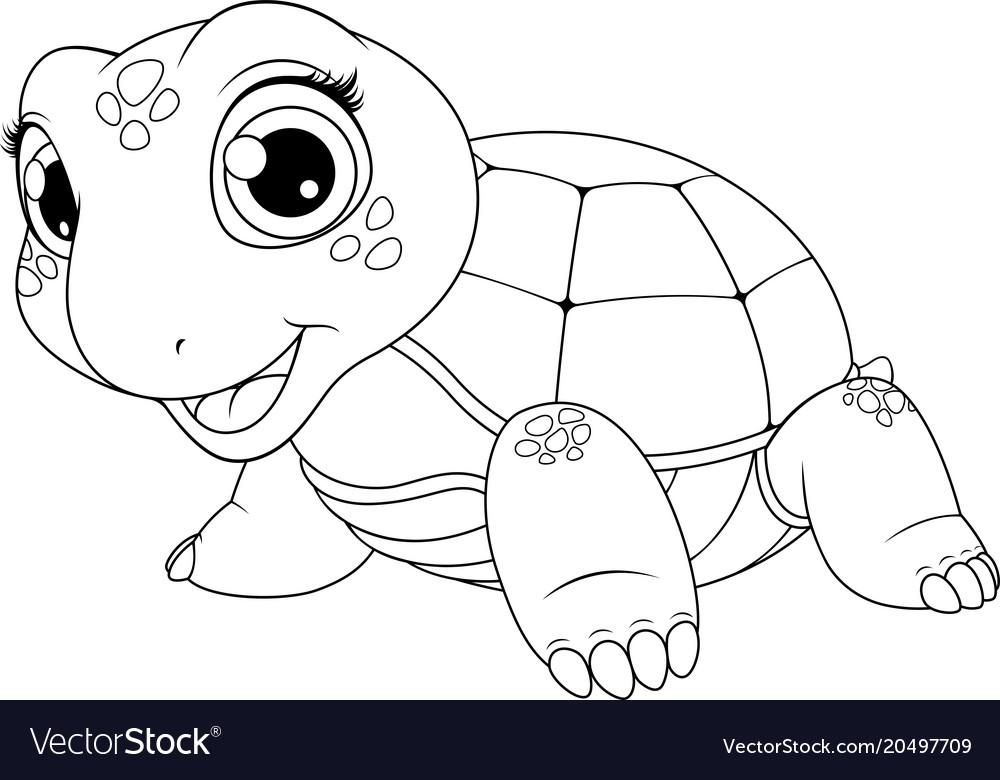Cheerful child turtle