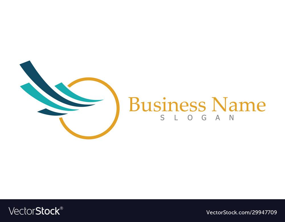 Circle swirl business logo