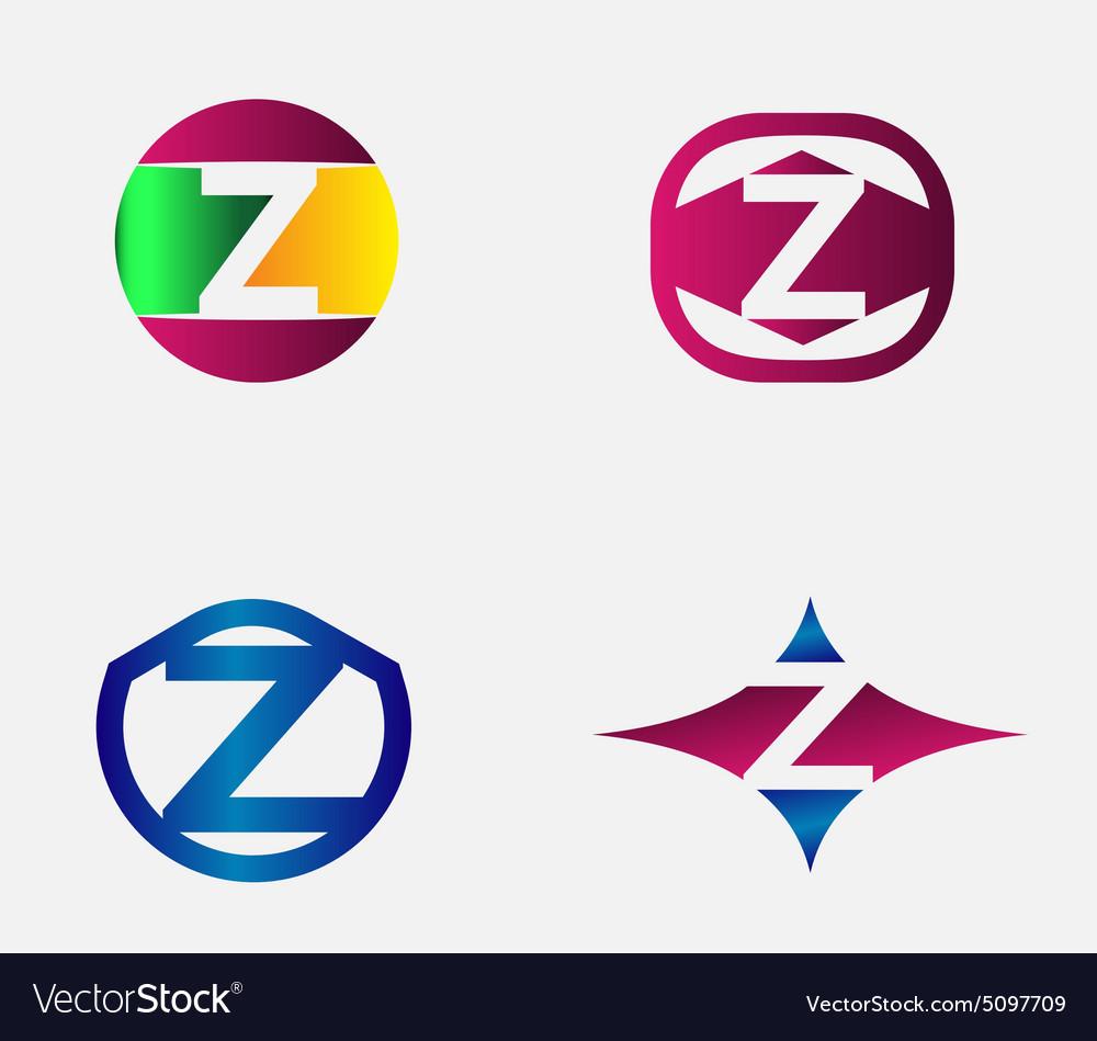 Letter Z Logo alphabet design element