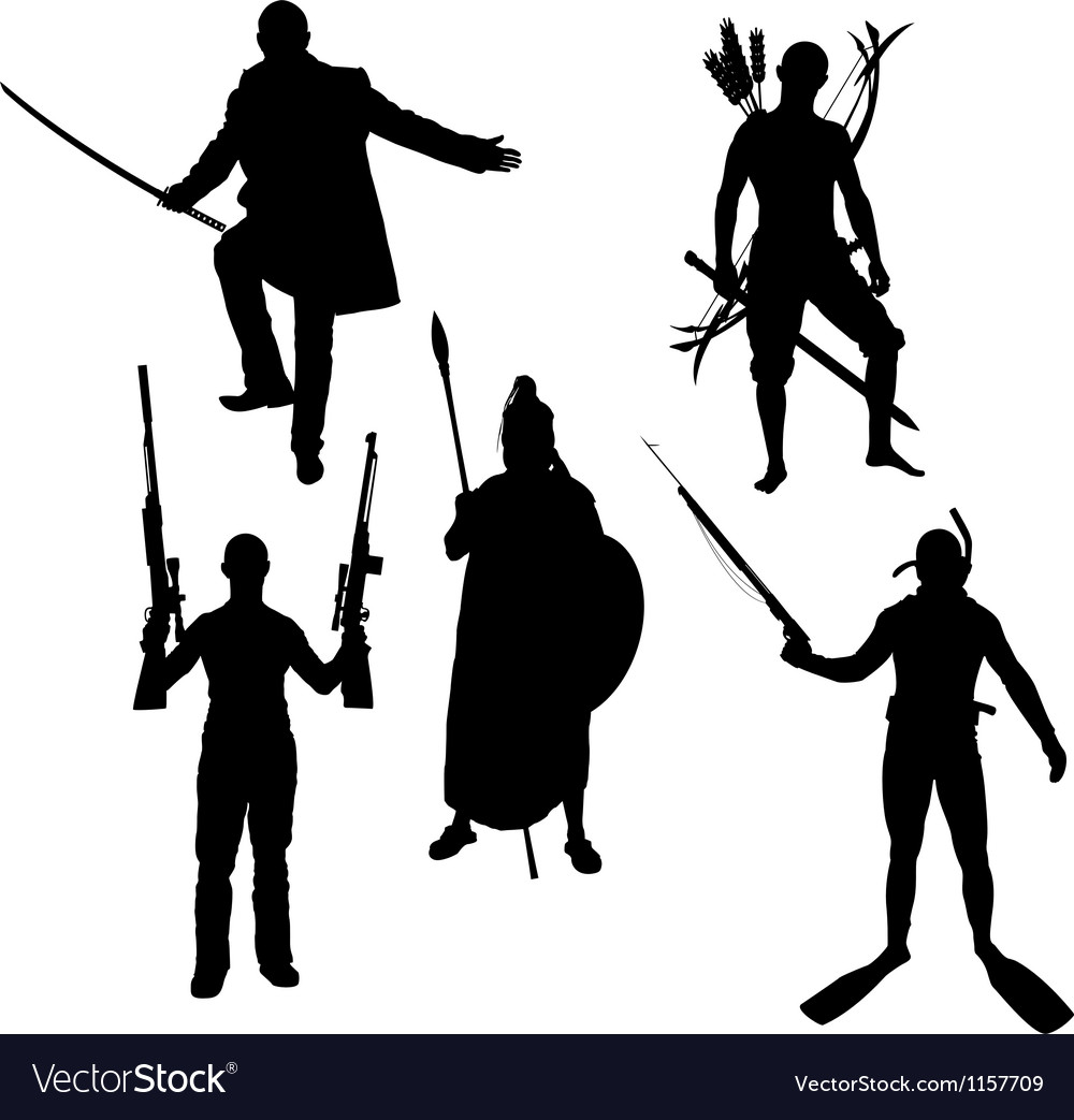 Silhouettes of warriors